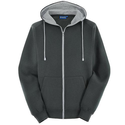 Bespoke Full Zip Titainium Grey Hoodie