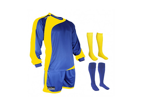 Teamwear Champions kit Royal/Yellow