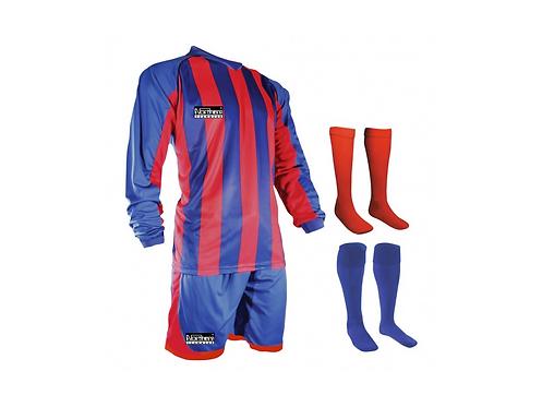 Teamwear Striped kit Scarlet/Royal