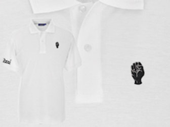 Discreet Fist Polo White