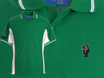 Discreet Fist Polo Green/White
