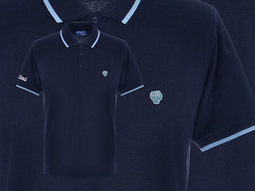 Retro Discreet Fist Polo Navy/Sky
