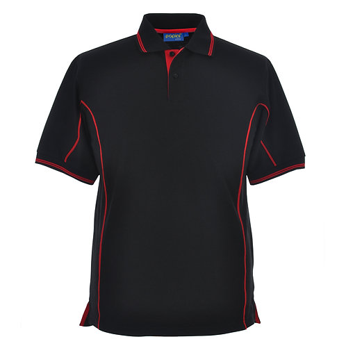 Elite Black-Red-Pipe Polo Shirt