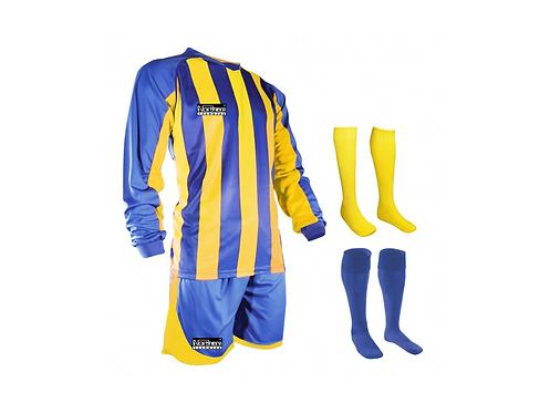 Teamwear Striped kit Royal/Yellow