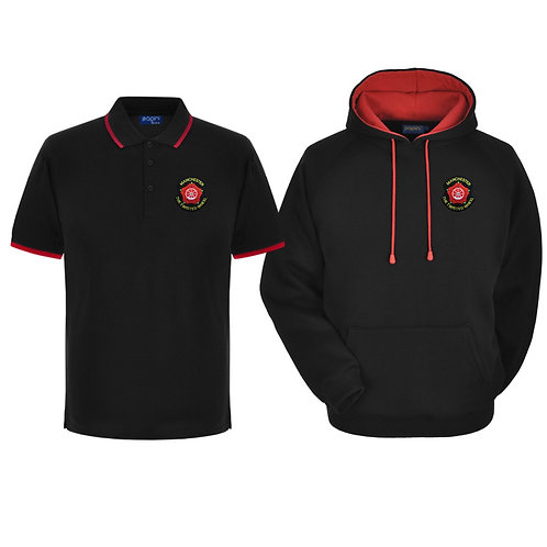 Twisted Wheel Hoodie & Polo Combo Black-Red