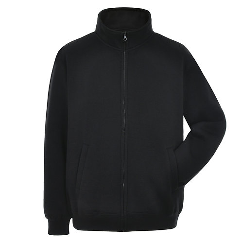Bespoke Black Full Zip Embroided Sweat
