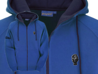 Discreet Fist Full Zip Hoodie Royal/Navy