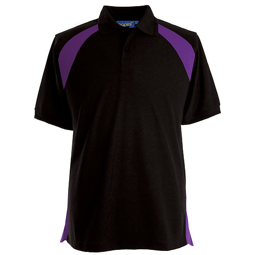 Elite Black-Purple Polo Shirt