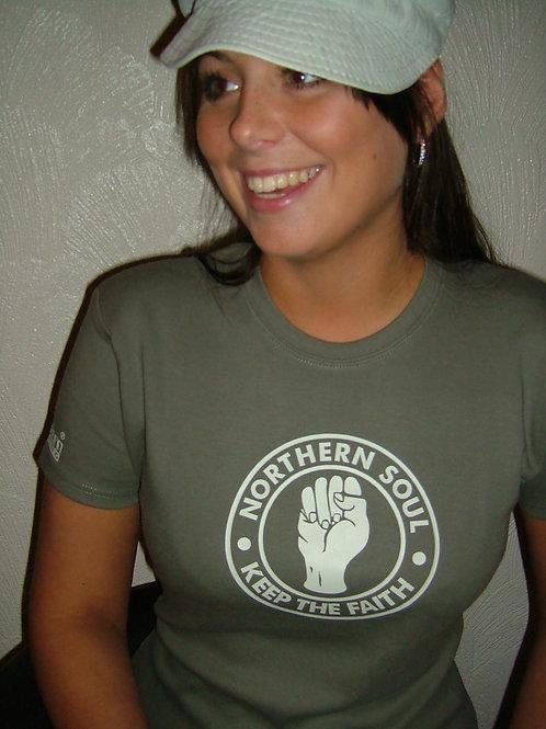 KTF Fist Retro 3 Ladies T-Shirt