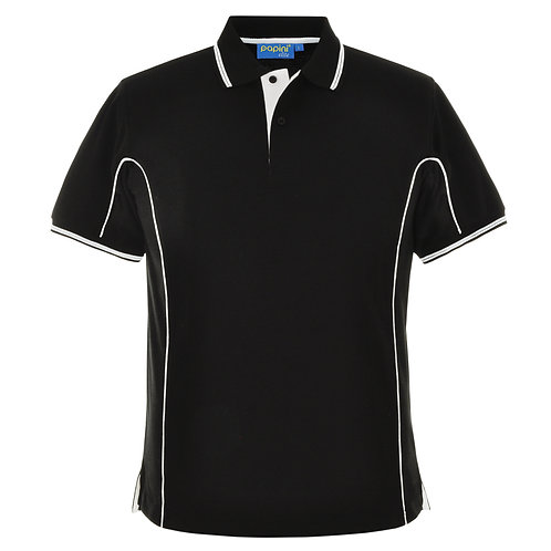 Elite Black-White-Pipe Polo Shirt