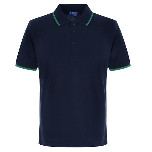 Elite Tipped Navy-Emerald Polo Shirt