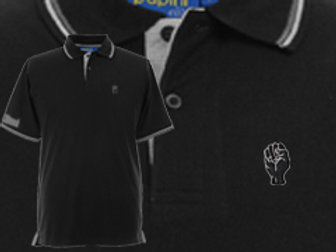 Discreet Fist Polo Black/Light Grey
