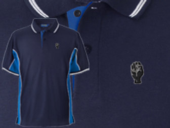 Discreet Fist Polo Navy/Royal/White