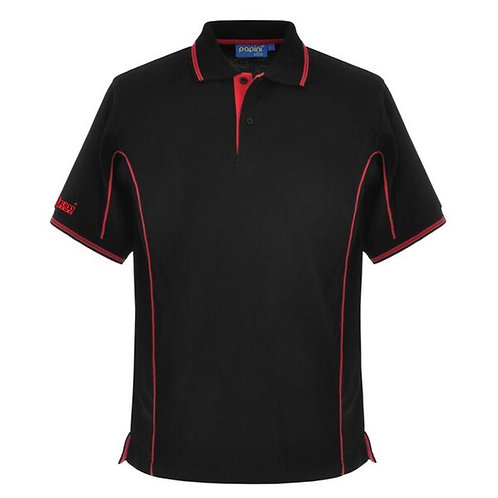 Bespoke Red Black Tipped Polo