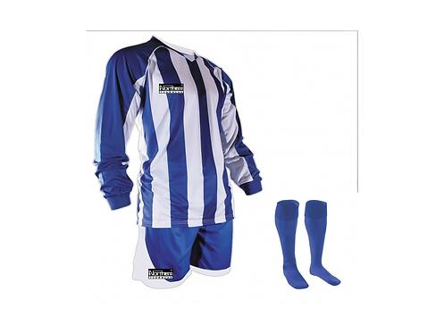 Teamwear Striped kit Royal/White