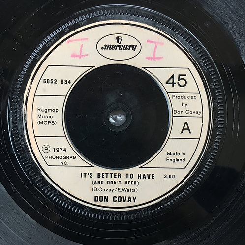 Don Covay. 'It's Better To Have'
