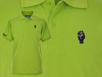 Discreet Fist Polo Lime Green