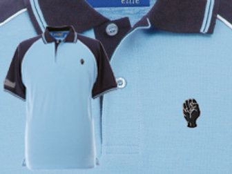 Discreet Fist Polo Sky/Navy/White