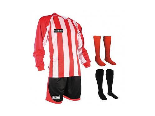 Teamwear Striped kit Red/White