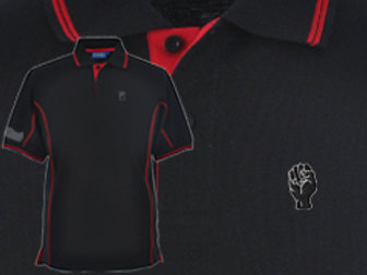 Discreet Fist Polo Black/Red