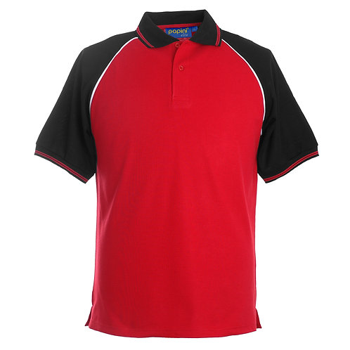 Elite Red-Black-White Polo Shirt