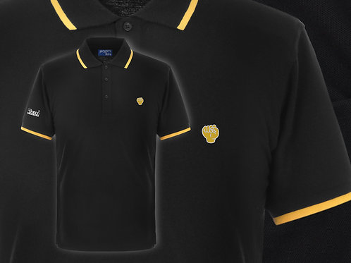 Retro Discreet Fist Polo Black/Yellow