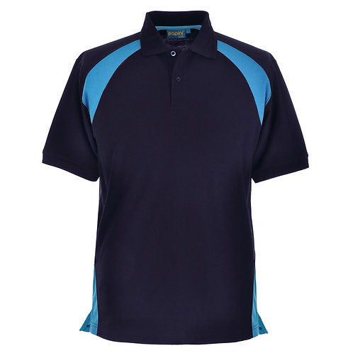 Elite Navy-Cyan Polo Shirt