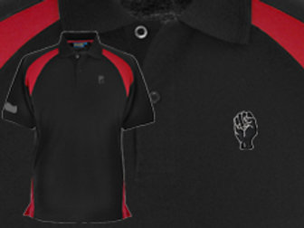 Discreet Fist Polo Black/Red/Fer