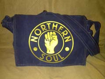 Canvas Denim Northern Soul Fist Bag