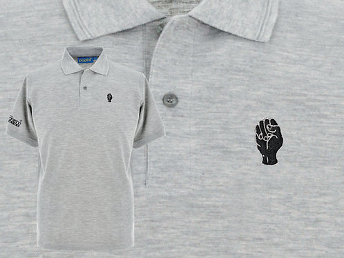 Discreet Fist Polo Marl Grey