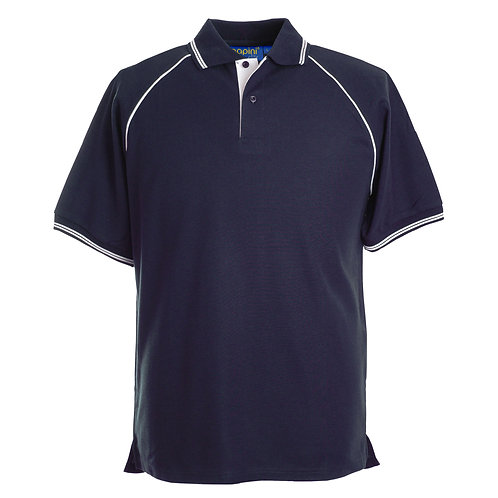 Elite Navy-White Polo Shirt