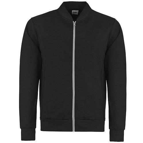 Retro Embroided Tracksuit Top Black/Grey