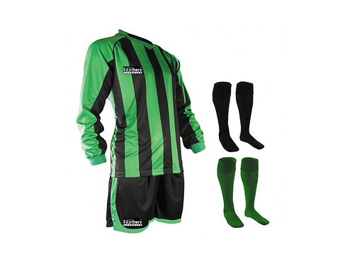 Teamwear Striped kit Green/Black