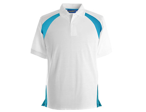 Elite White-Cyan Polo Shirt