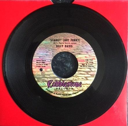 BILLY DAVIS- 1. STANKY (Get Funky).  2. I'VE TRIED. Cobblestone