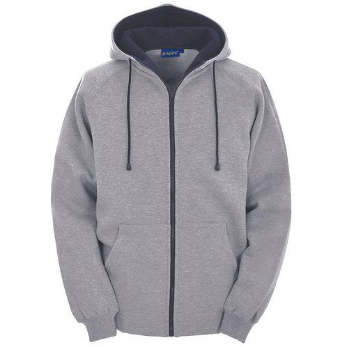 Bespoke Full Zip Grey/Navy Hoodie
