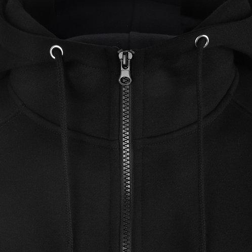 Bespoke Full Zip Black Hoodie