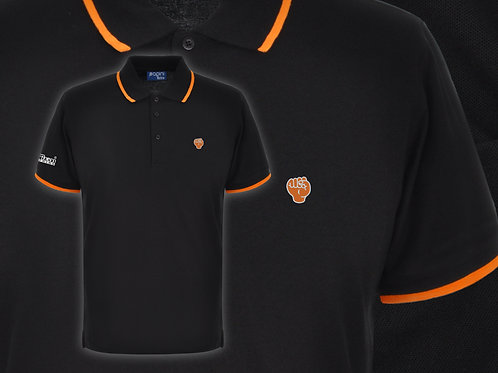 Retro Discreet Fist Polo Black/Orange