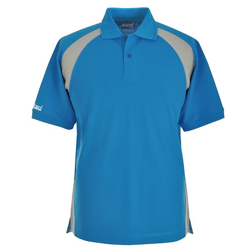 Bespoke Cyan Grey Polo