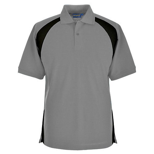 Elite Silver Grey-Black Polo Shirt