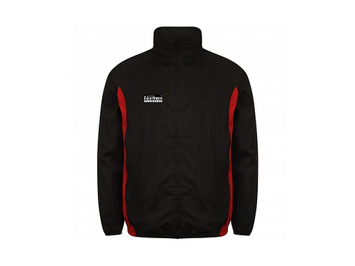 Teamwear League Rain Full Zip Jacket Black/Red