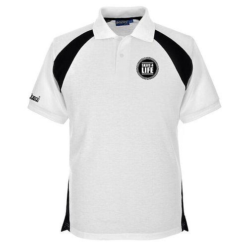 Ska'd 4 Life Polo Shirt White/Black