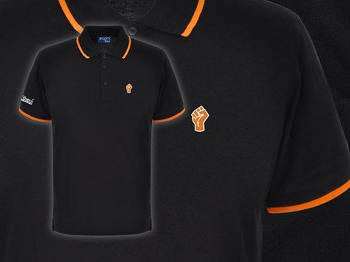 Retro Discreet Fist 2 Polo Black/Orange
