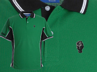 Discreet Fist Polo Green/Blk/White