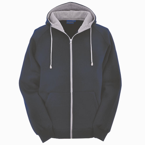 Bespoke Full Zip Navy/Grey Hoodie