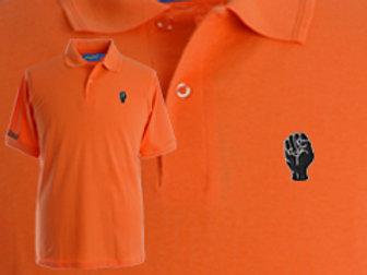 Discreet Fist Polo Tangerine