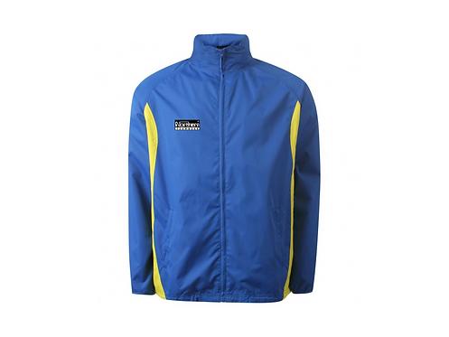 Teamwear League Rain Full Zip Jacket Royal/Yellow