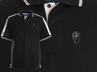 Discreet Fist Polo Black/White