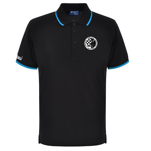 Ska Polo Shirt Black/Cyan