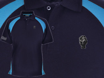 Discreet Fist Polo Navy/Cyan
